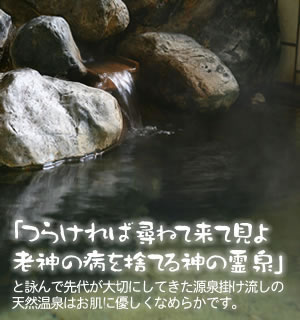 先祖代々大切にされてきた伝説の天然温泉は皮膚病などに効果あり